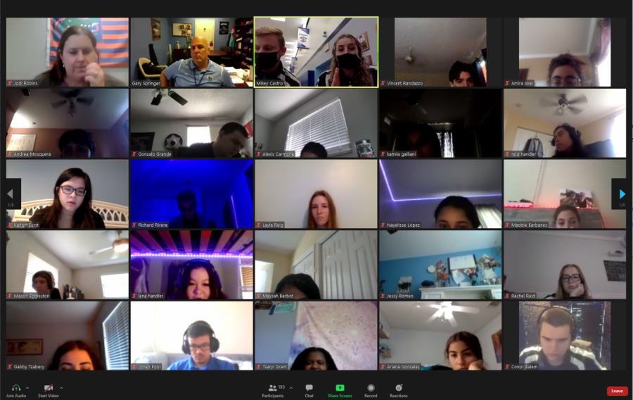 A+screenshot+of+the+Zoom+meeting+held+on+Thursday%2C+February+18.